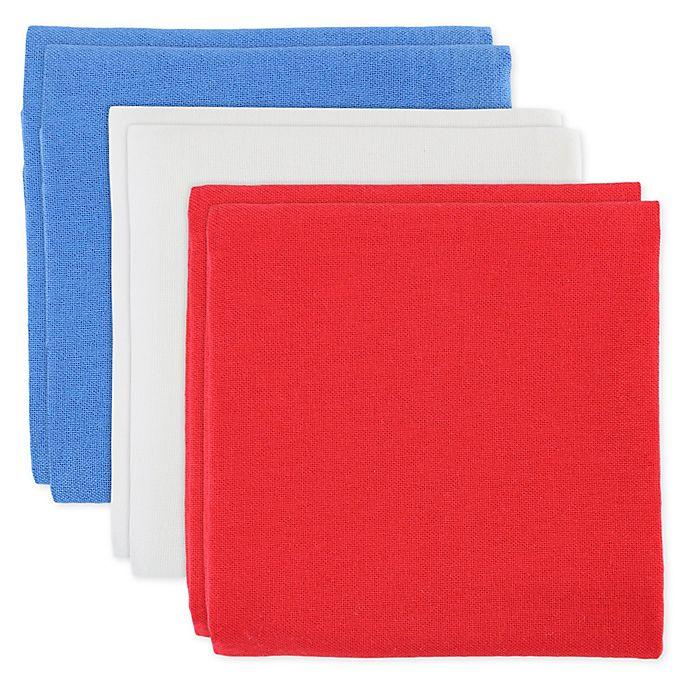 MU Kitchen™ Patriotic Flour Sack Kitchen Towels in Red/White ...