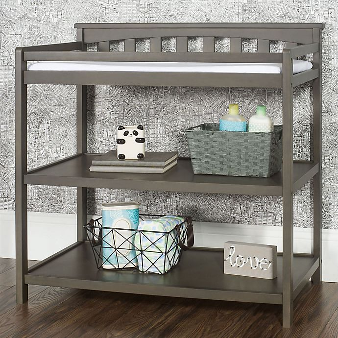 Alternate image 1 for Child Craft™ Forever Eclectic™ Flat Top Changing Table in Dapper Grey