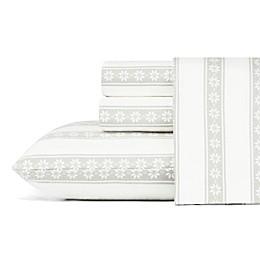 Eddie Bauer® Snowflake Fair Isle Flannel Sheet Set