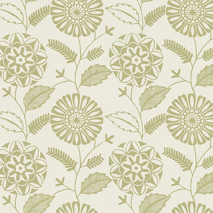 Echo Design Modern Floral Print Wallpaper Sample In Beige Bed Bath And Beyond Canada