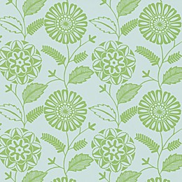 Echo Design™ Modern Floral Print Wallpaper Sample in Green
