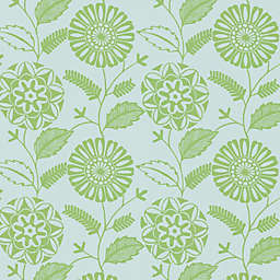 Echo Design™ Modern Floral Print Wallpaper Sample in Green