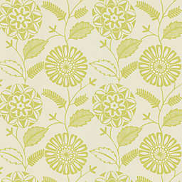 Echo Design™ Modern Floral Print Wallpaper Sample in Light Green