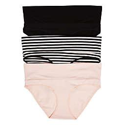 Motherhood Maternity® Medium Fold Over Panties (Pack of 3)
