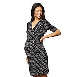 Motherhood Maternity® Wrap Dress in Black/White