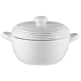 American Atelier Bianca Dotted Covered Casserole Dish