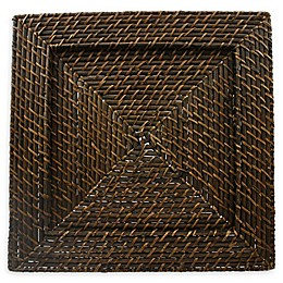 ChargeIt by Jay Rattan Square Charger Plates in Brown (Set of 4)