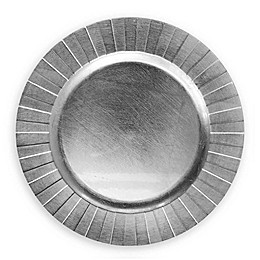 ChargeIt by Jay Burst Melamine Charger Plates in Silver (Set of 4)