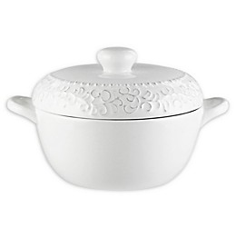 American Atelier Bianca Scroll Covered Casserole Dish