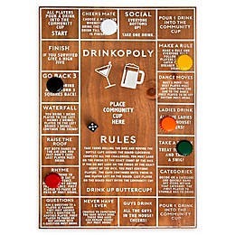 Polished Wood Drinkopoly Game
