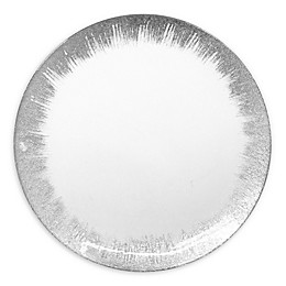 American Atelier Selene Glass Charger Plate in Silver
