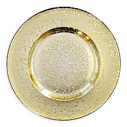 American Atelier Speckled Charger Plate in Gold