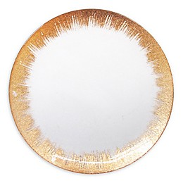 American Atelier Selene Glass Charger Plate in Copper