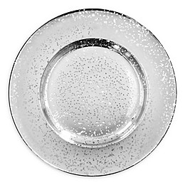 American Atelier Speckled Charger Plate in Silver