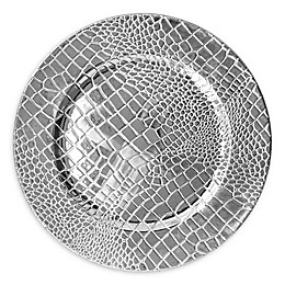 Charge It by Jay Croc Charger Plates in Silver (Set of 4)