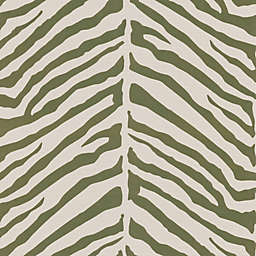Echo Design™ Zebra Stripes Wallpaper Sample in Light Brown