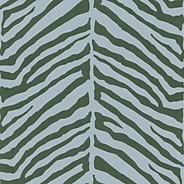 Echo Design™ Zebra Stripes Wallpaper Sample in Blue