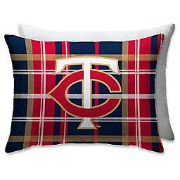 MLB Minnesota Twins Plaid Microfiber Standard Bed Pillow