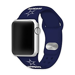 NFL Dallas Cowboys Apple Watch® Short Silicone Band in Navy