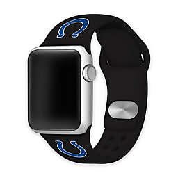 NFL Indianapolis Colts Apple Watch® Short Silicone Band in Black