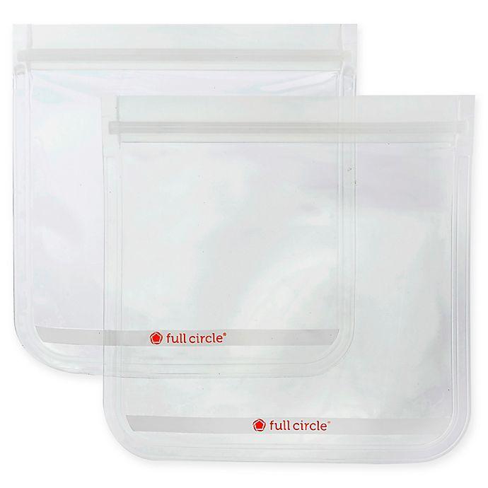 Alternate image 1 for Full Circle® Ziptuck™ Reusable Sandwich Bags (Set of 2)
