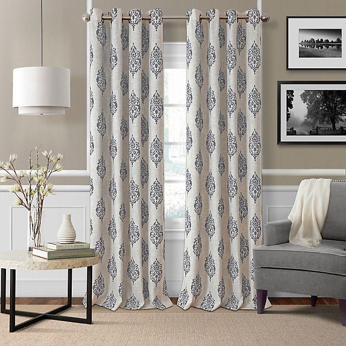 Alternate image 1 for Navara Medallion Grommet Room Darkening Window Curtain Panel