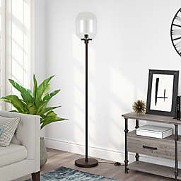Hudson&Canal Agnolo Floor Lamp in Blackened Bronze