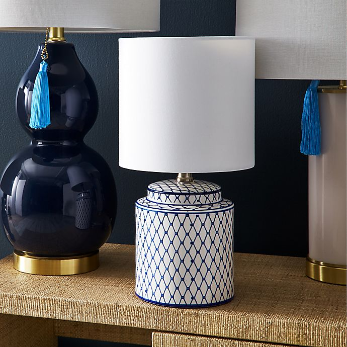 One Kings Lane Open House™ Archer Table Lamp in Blue/White ...