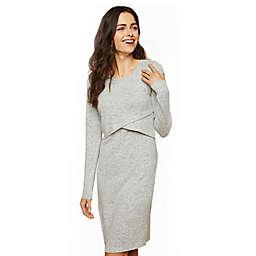 Motherhood Maternity® Nursing Sweater Dress in Heather Grey
