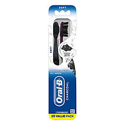 Oral-B Charcoal Whitening Soft Toothbrush (Set of 2)
