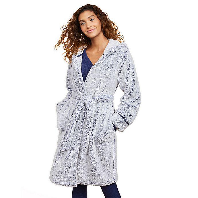 Alternate image 1 for Motherhood® Maternity Hooded Cozy Sleep Maternity Robe