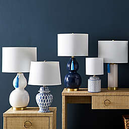 One Kings Lane Open House™ Ginny Table Lamp in Blue/White