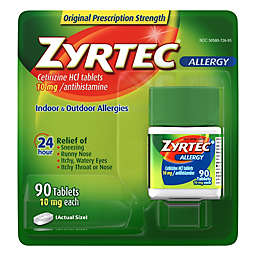 Zyrtec® 90-Count 10 mg 24-Hour Allergy Relief Tablets