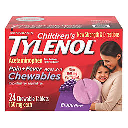 Tylenol® 24- Count Children's Pain and Fever 160 mg Chewable Tablets in Grape