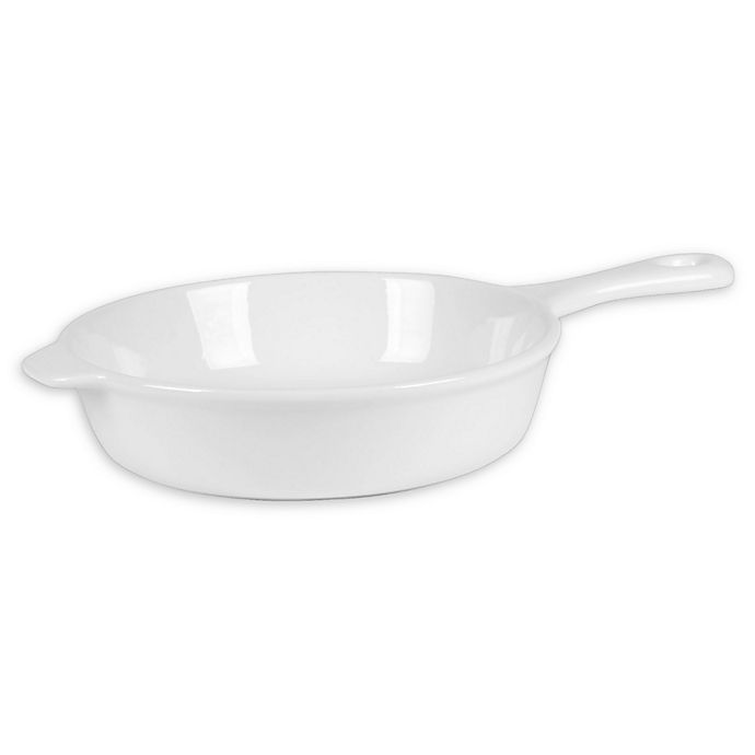 Alternate image 1 for Everyday White® by Fitz and Floyd® Heat and Serve Skillet