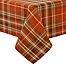Part of the Elrene Home Fashions Loden Plaid Table Linen Collection