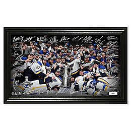 NHL St. Louis Blues 2019 Stanley Cup Champions Trophy Signature Rink Photo