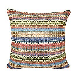 Destination Summer Striped Square Indoor/Outdoor Throw Pillow