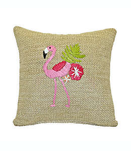 Cojín decorativo cuadrado Destination Summer Flamingo para interiores/exteriores