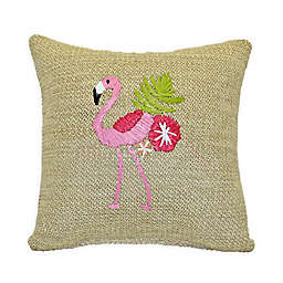 Destination Summer Flamingo Square Indoor/Outdoor Throw Pillow