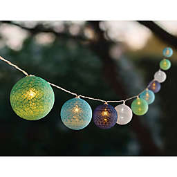 Solar Set of 10 Colored Orb String Lights