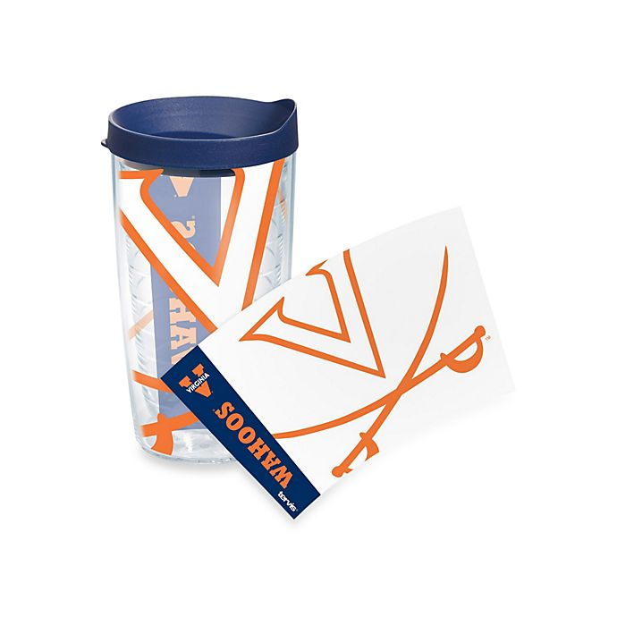 Alternate image 1 for Tervis® University of Virginia Cavaliers 16-Ounce Wrap Tumbler with Blue Lid