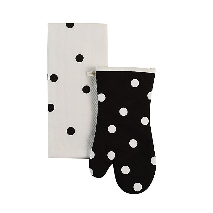 Alternate image 1 for kate spade new york 2-Piece Polka Dot Kitchen Linen Set