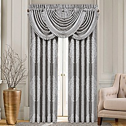 J. Queen New York™ La Scala 84-Inch Rod Pocket Window Curtain Panel Pair in Silver