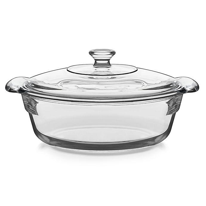 Alternate image 1 for Libbey® Glass Baker's Premium 2 qt. Covered Casserole Dish