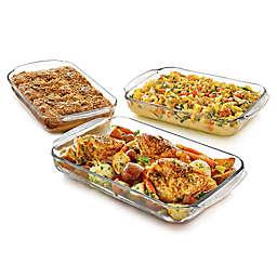 Libbey® Glass Baker's Basics 3-Piece Casserole Dish Set