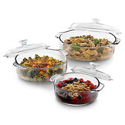 Libbey® Glass Baker's Basics 6-Piece Covered Casserole Dish Set