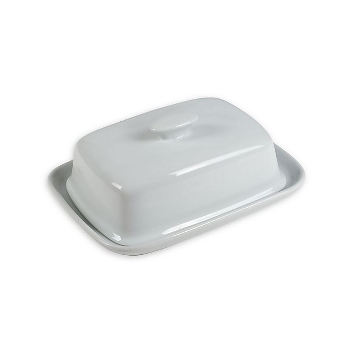 Alternate image 1 for Everyday White® by Fitz and Floyd® Wide Covered Butter Dish