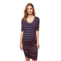 Motherhood Maternity® Side-Ruched Maternity Dress