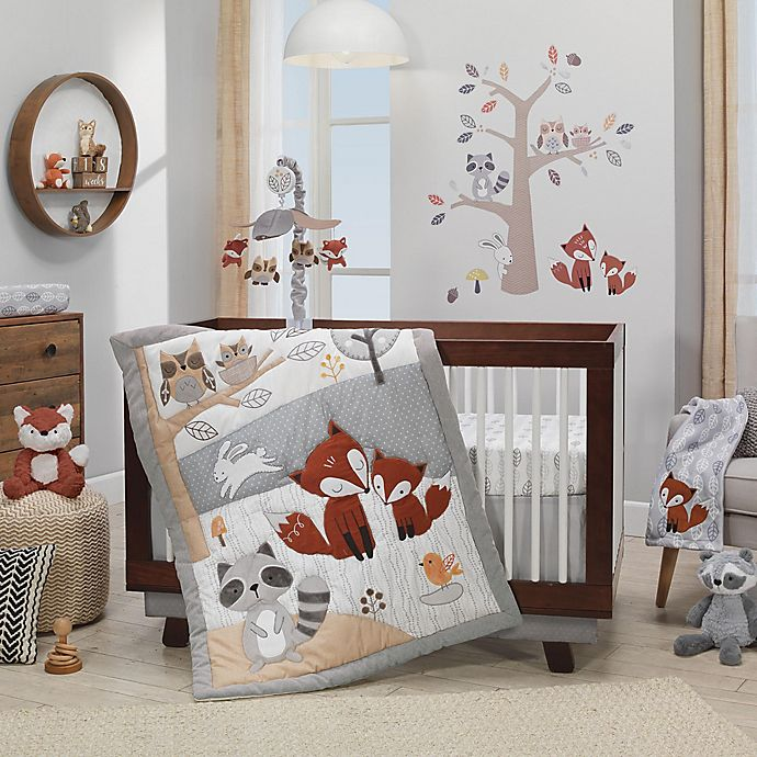 Alternate image 1 for Lambs & Ivy® Into the Woods 4-Piece Crib Bedding Set in Beige/Grey